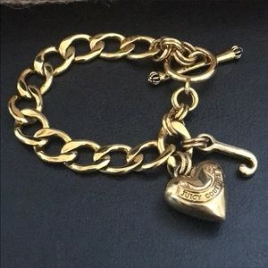 Juicy Couture Banner Heart Toggle Charm Bracelet